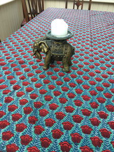 Red Tulip Tablecloth