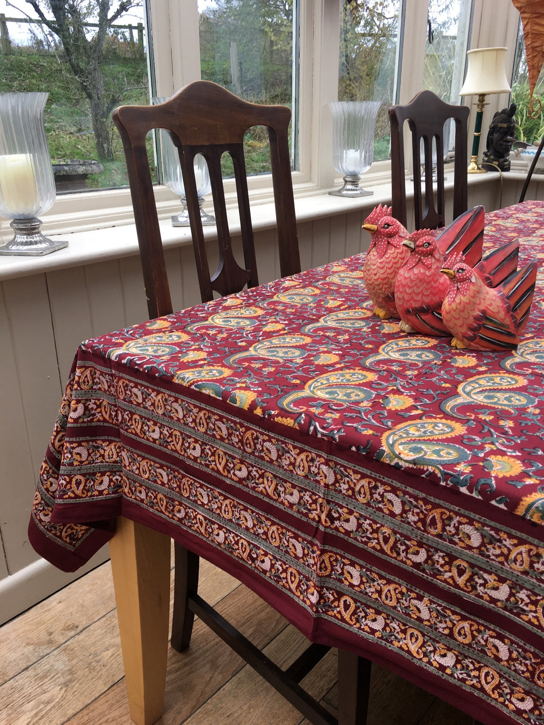 Sienna Paisley Tablecloth