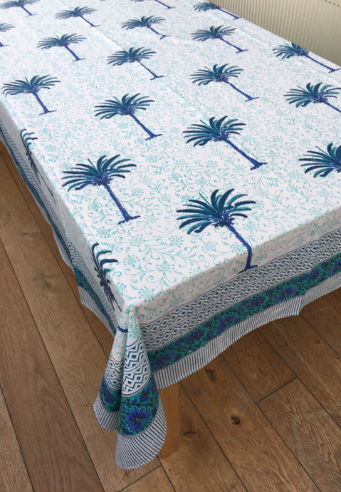 Blue Moon Palm Tablecloth