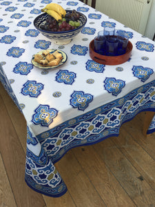 White Marrakesh Tablecloth