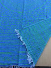 Phoebe Green/Blue Greek Towel