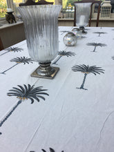 Grey Jaipur Palms Tablecloth