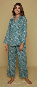 Green and Blue Patrice Pyjamas