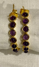 Amethyst Gypsy Hoop Earrings