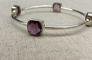 Silver and Amethyst Rani Bracelet