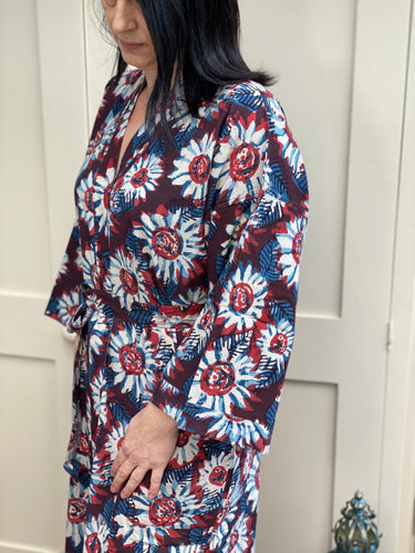 Anokhi Daisy Long Dressing Gown