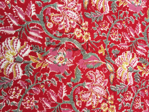 Red Flora Tablecloth