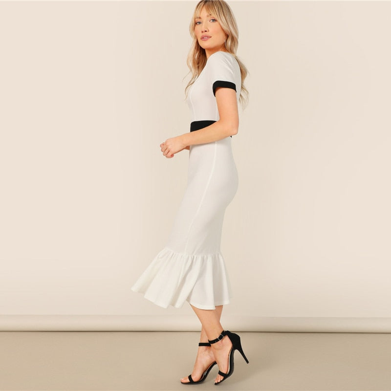 Black and White Contrastl Dress