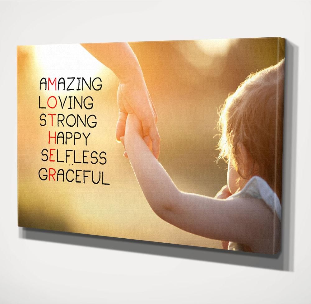 Mother Day, Canvas Wall Art, 1-Panel Available in 3 Sizes, Wall ...
