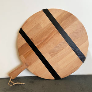 Reclaimed Beech Wood Round Pizza Board