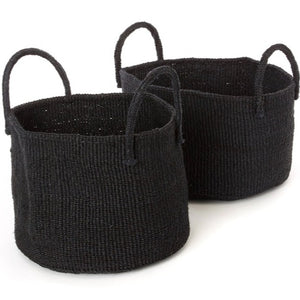 Black Kamba Floor Basket