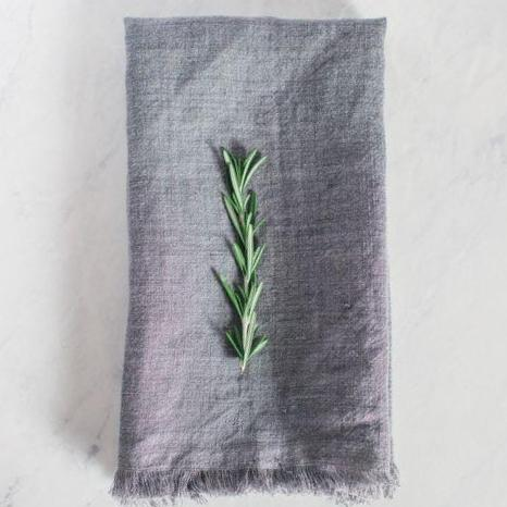Stone Washed Linen Napkin - Gray - Pacific Design Co.
