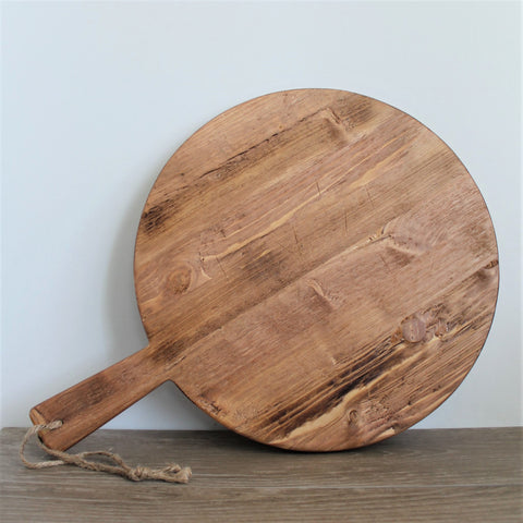 Reclaimed Wood Round Charcuterie Board - Pacific Design Co.