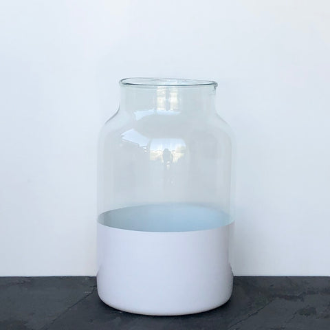 Recycled Glass Colorblock Mason Jar