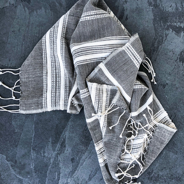 Brooks Cotton Hand Towel - Gray