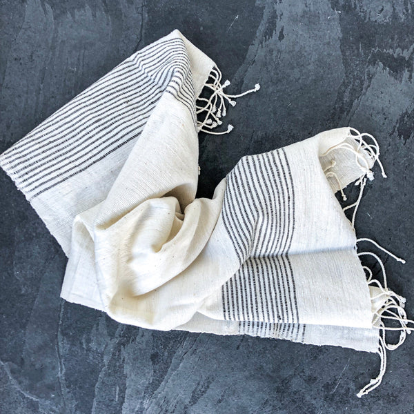 Jola Cotton Hand Towel - Gray