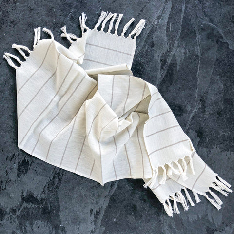 Chiapa Striped Cotton Hand Towel
