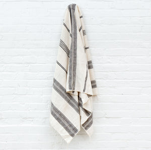 Dayton Cotton Bath Towel - Natural & Gray - Pacific Design Co.