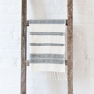 Dayton Cotton Hand Towel - Natural & Gray - Pacific Design Co.