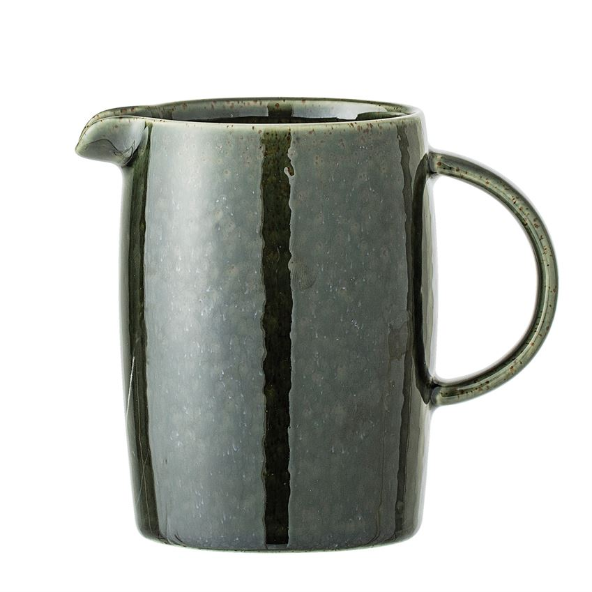 Green Stoneware Creamer - Pacific Design Co.