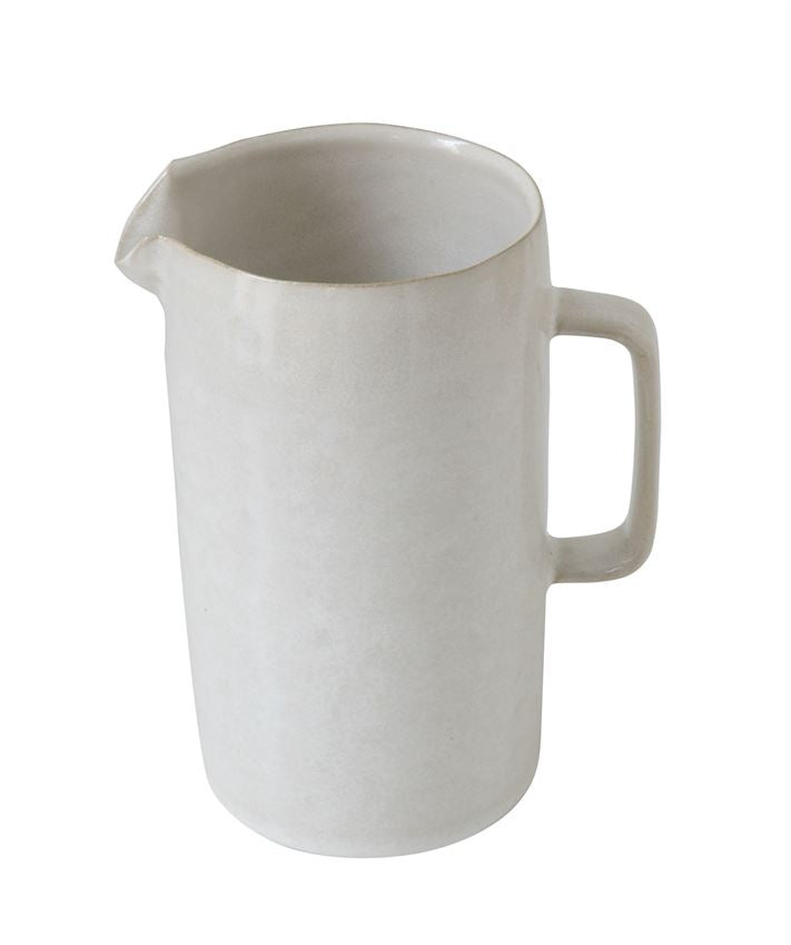 White Stoneware Pitcher - Pacific Design Co.