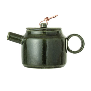 Green Stoneware Teapot - Pacific Design Co.
