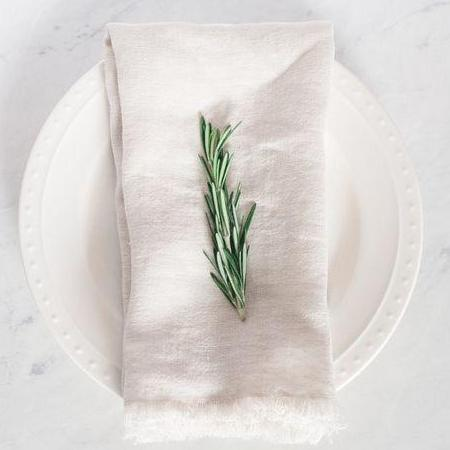 Stone Washed Linen Napkin - Sandstone - Pacific Design Co.