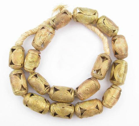 Brass Cylinder Beads - Pacific Design Co.