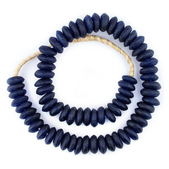 Blue Recycled Glass Beads - Pacific Design Co.