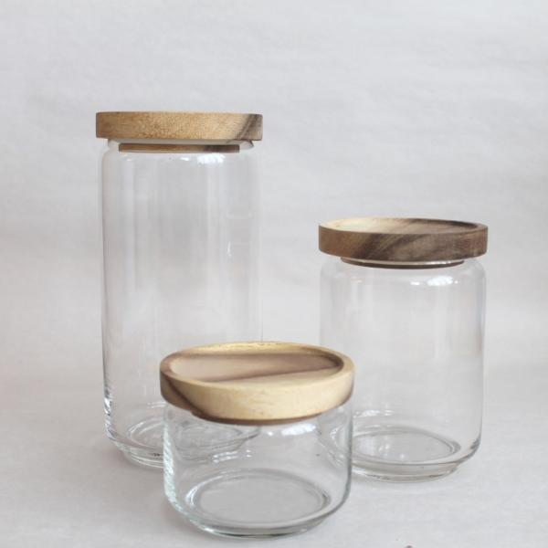 Recycled Glass Canisters - Pacific Design Co.