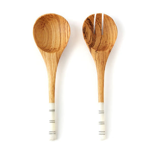 Bone & Olive Wood Salad Servers