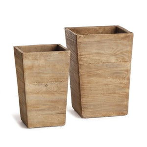 Faux Wood Cachepots - Pacific Design Co.