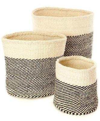 Sisal Nesting Baskets (Set of 3) - Pacific Design Co.