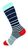 Men's Navy Green and Blue Dress Socks