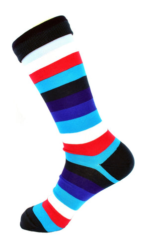 Men's Mixed Stripe Colour Dress Socks