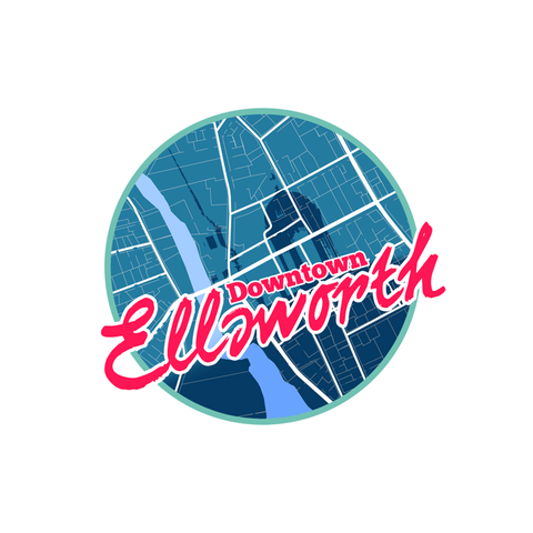 "Ellsworth Die Cut Stickers 25 pack 3"" x 4"""