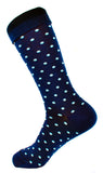Men's Navy Cream Polka Dress Socks