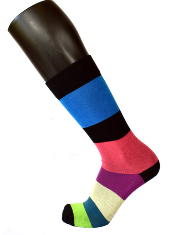 Men's Coulor Block Socks