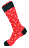 Men's Red and Blue Golf Club Dress Socks
