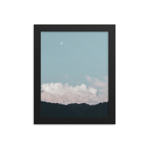 Clouds // Framed poster