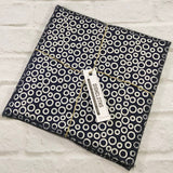 Navy Circle Dishcloths