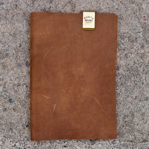 The A5 Notebook - Brass