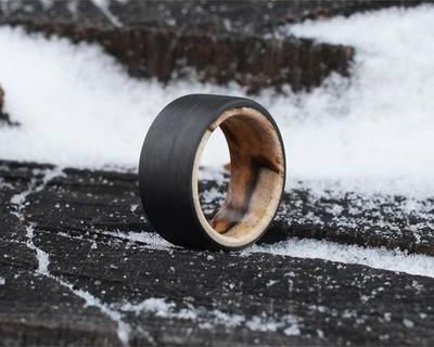 BOUND SPALTED MAPLE RING