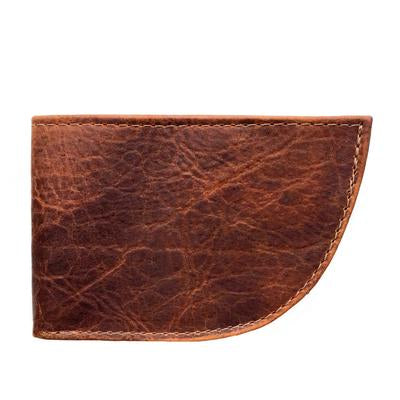 Rogue Nantucket Front Pocket Wallet in Bison