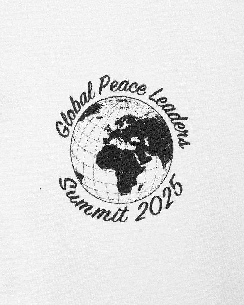 Global Leaders Tee in White Front Detail