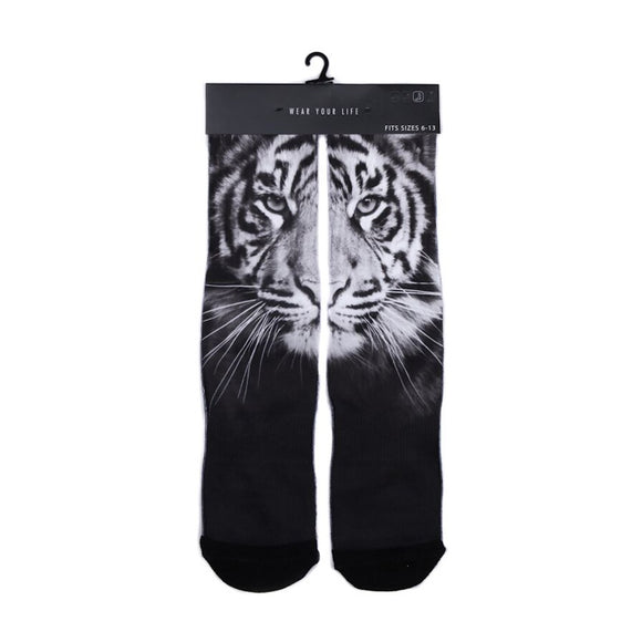 PSD SOCKS - WHITE TIGER FACE