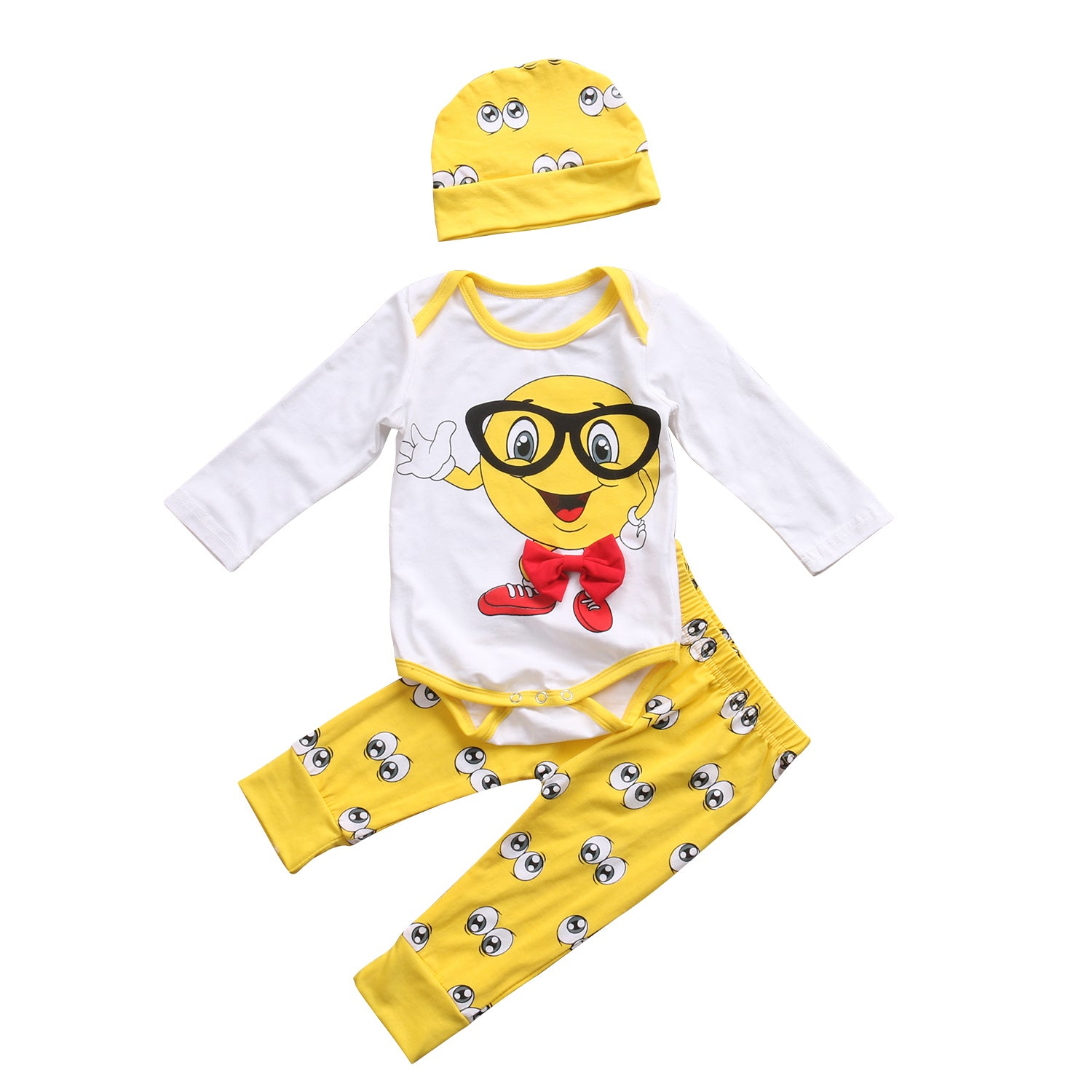 5c00c23cc17d 0-24M Cute Newborn Baby Boys Girls Outfit Clothes Catoon Pattern Romper  Jumpsuit Bodysuit Long