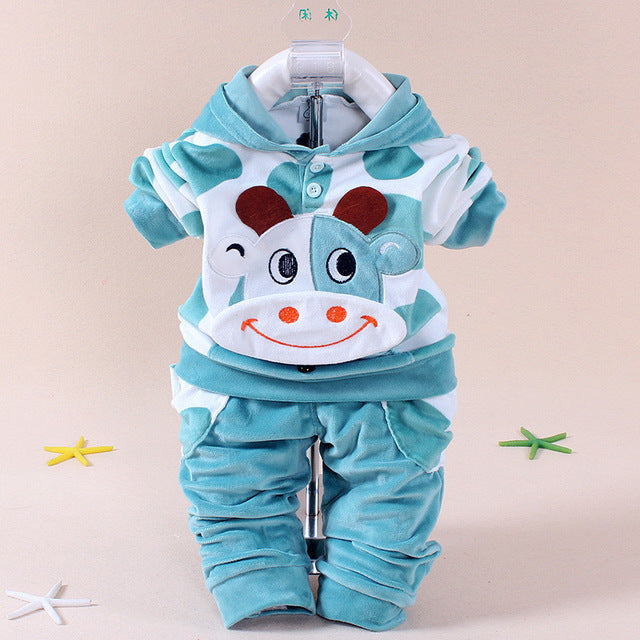0c03dc86f Baby Boys Girls Hello Kitty Clothing Sets Kids Velvet Suits Infant ...