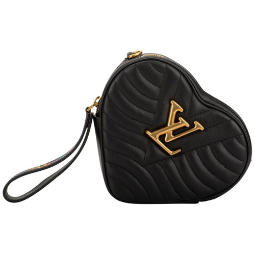 LOUIS VUITTON Limited Edition Black Heart Crossbody Bag