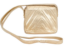 Load image into Gallery viewer, CHANEL Gold Chevron Evening Bag